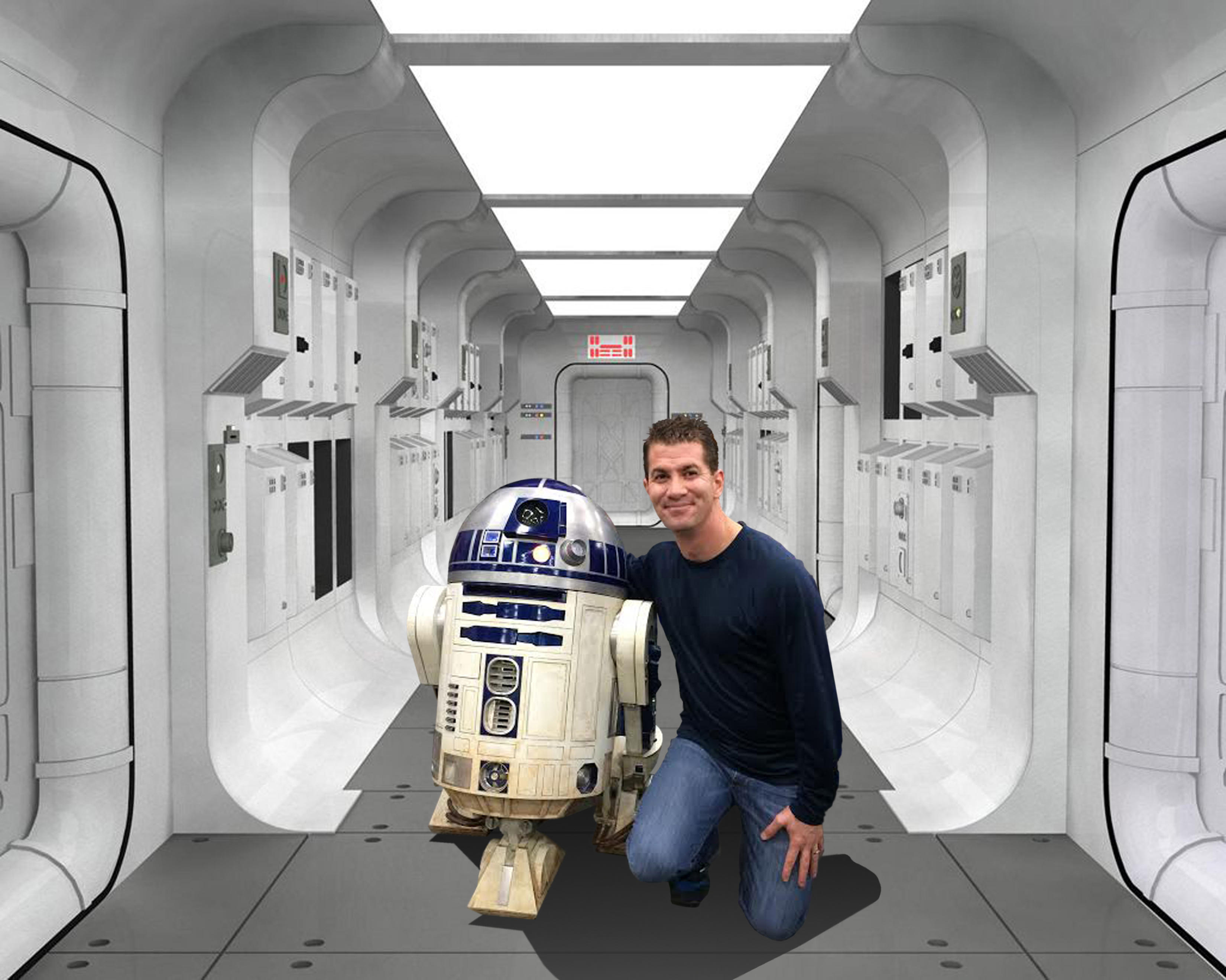 Andrew and R2 on the Tantive IV copy